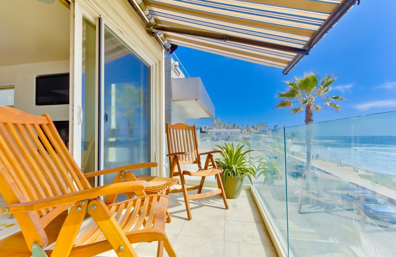 Rental balcony at Bluewater Vacation Homes.