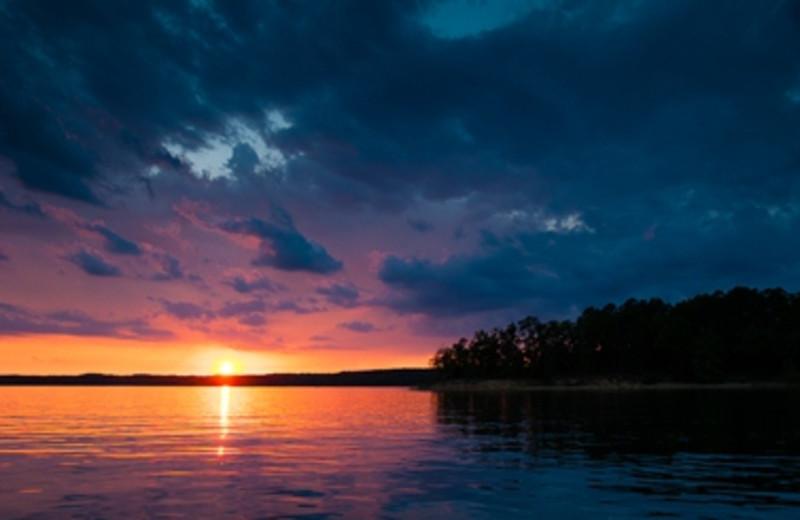 Sunset at Mountain Harbor Resort.