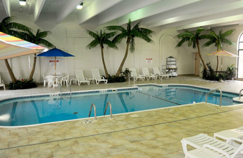 Indoor pool at Clarion Hotel at The Palace.