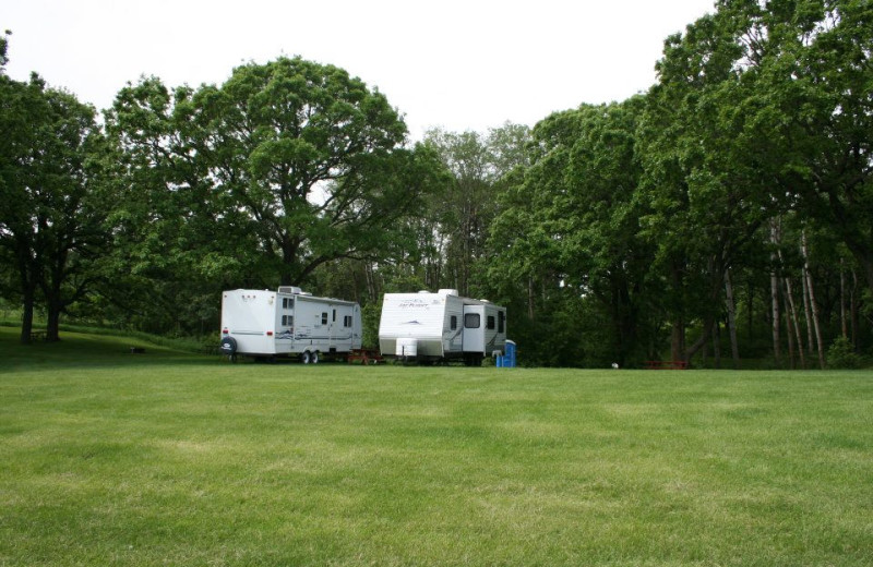 RV camping at Silver Sage Guest Ranch.