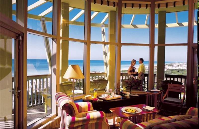 Condo Living Room at WaterColor Inn & Resort