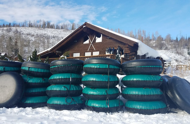 Snow tubing at Vista Verde Ranch.