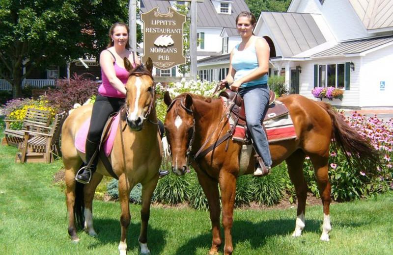 Horseback riding at Three Stallion Inn.