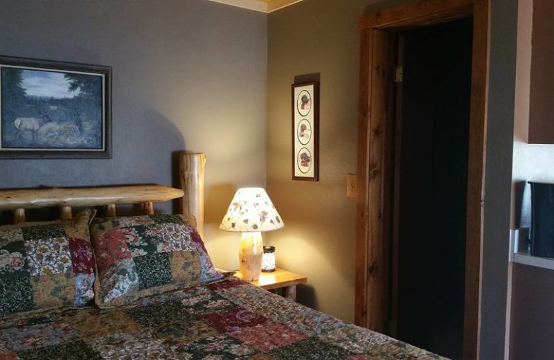 Guest room at Quartz Creek Lodge.