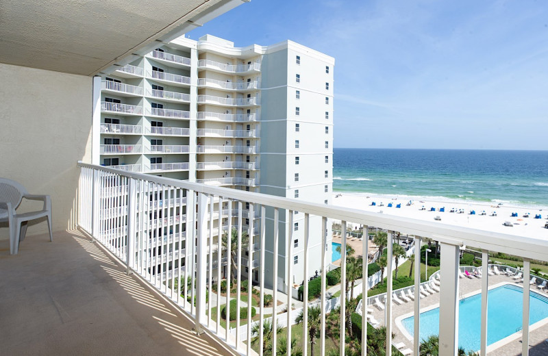 Rental balcony at Coastal Properties.