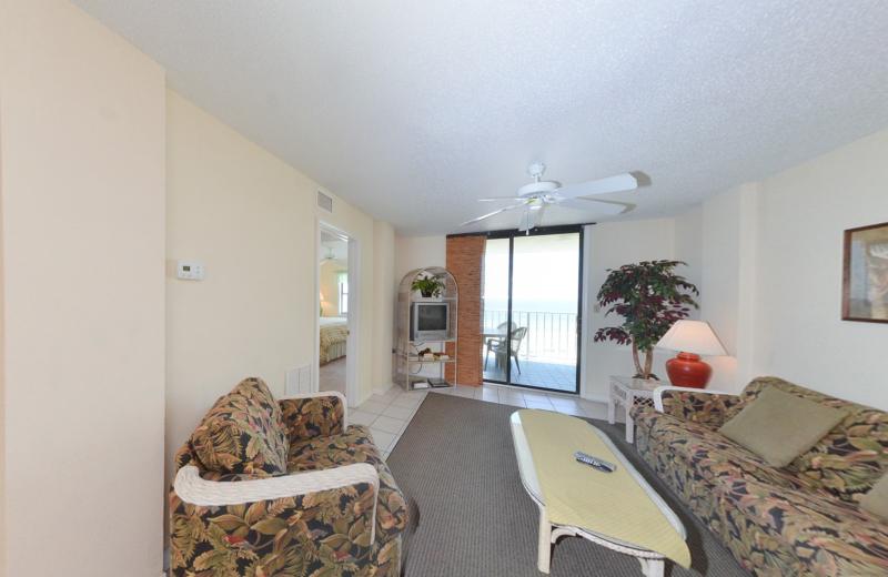 Rental iiving room at Coastal Properties.