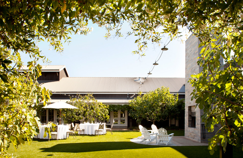 Outdoor conference at The Carneros Inn.