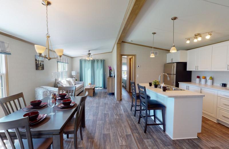 Cottage interior at Great Blue Resorts- Shamrock Bay Resort.