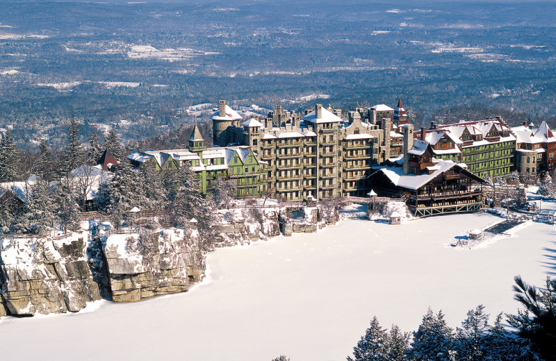 Winter at Mohonk Mountain House.