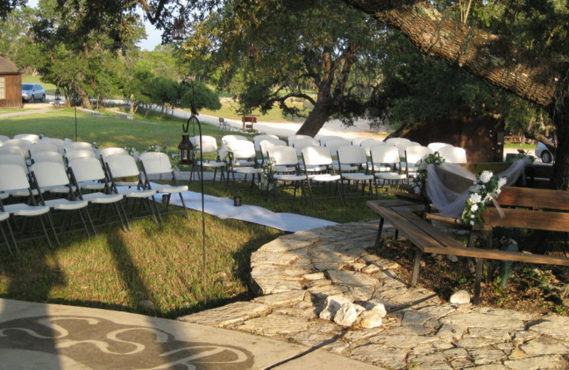 Wedding ceremony at Silver Spur Guest Ranch.