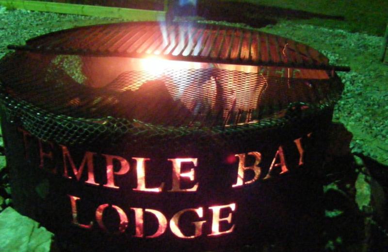 Campfire at Temple Bay Lodge