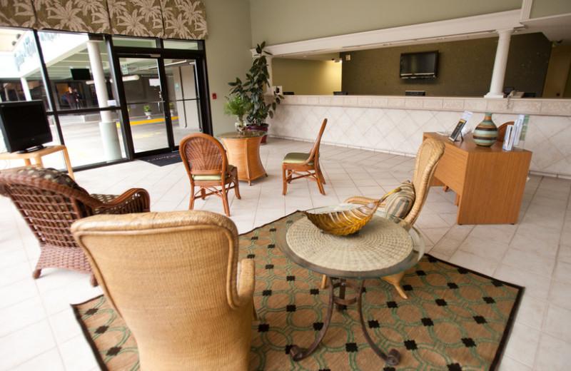 Lobby view at Grande Shores Ocean Resort.