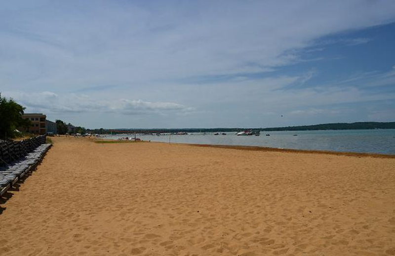 The beach at The Beach Condominiums Hotel-Resort.