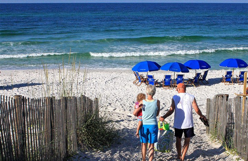 The beach at Cottage Rental Agency SEASIDE.