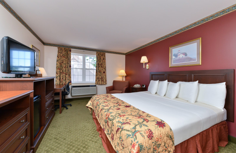 Guest room at Acadia Inn.