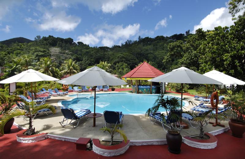 Outdoor pool at Berjaya Praslin Beach Resort.