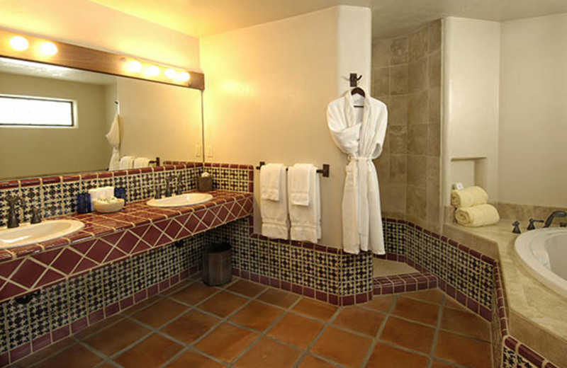 Guest bathroom at Tubac Golf Resort.