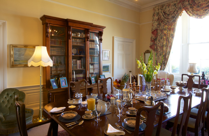 Dining room at Glebe House B&B.