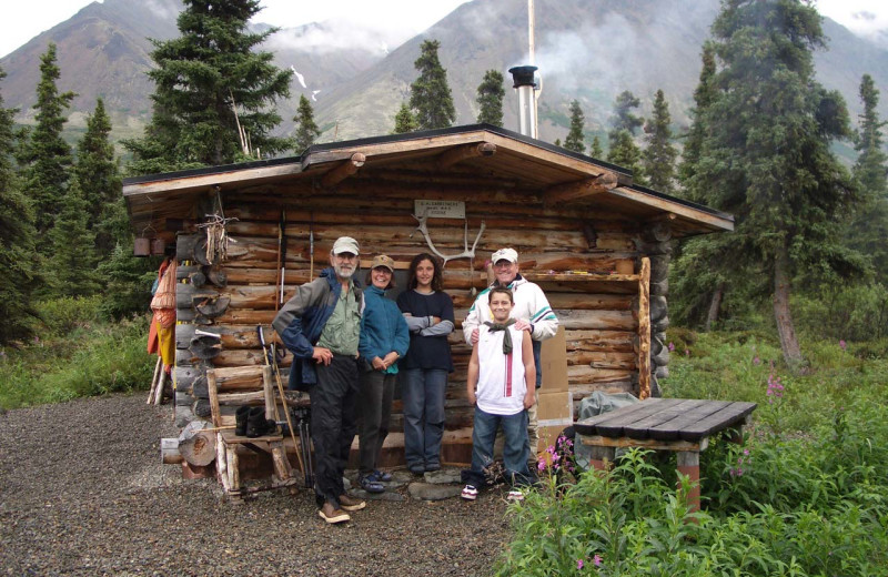Family at All Alaska Outdoors Lodge.