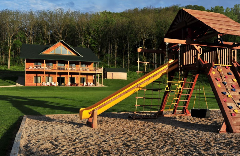 Kid's playground at Cedar Valley Resort.