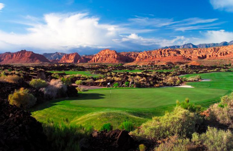 Beautiful golf greens at The Inn at Entrada.