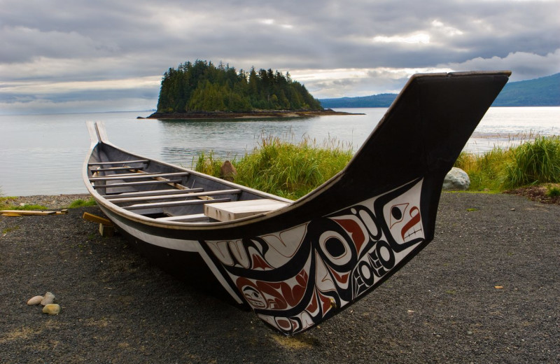 Canoe at Historic Lund Hotel.