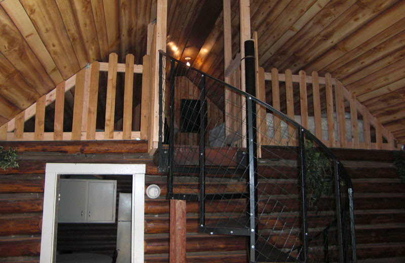 Cabin loft at North Shore Lodge & Resort.