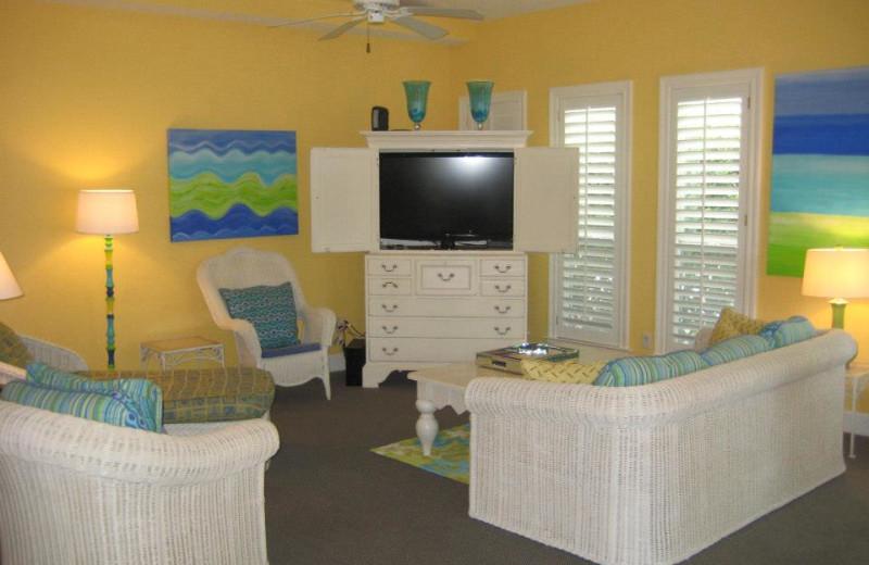 Vacation rental living room at Newman-Dailey Resort Properties, Inc.