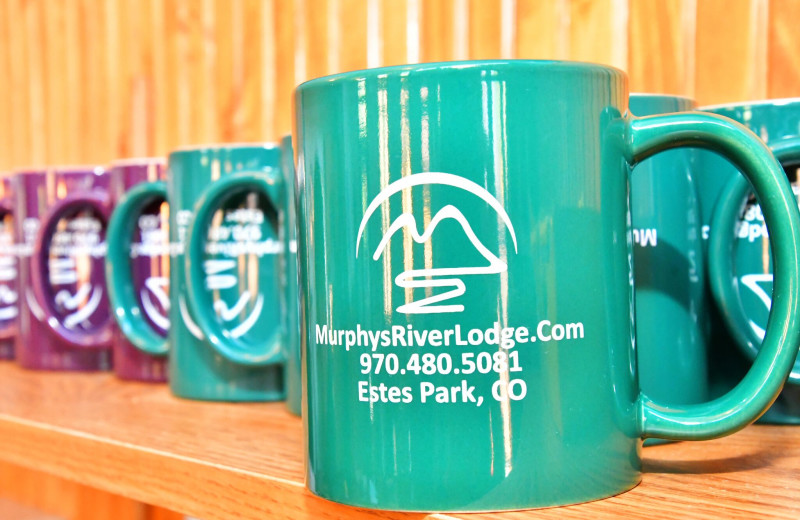 Mugs at Murphy's River Lodge.