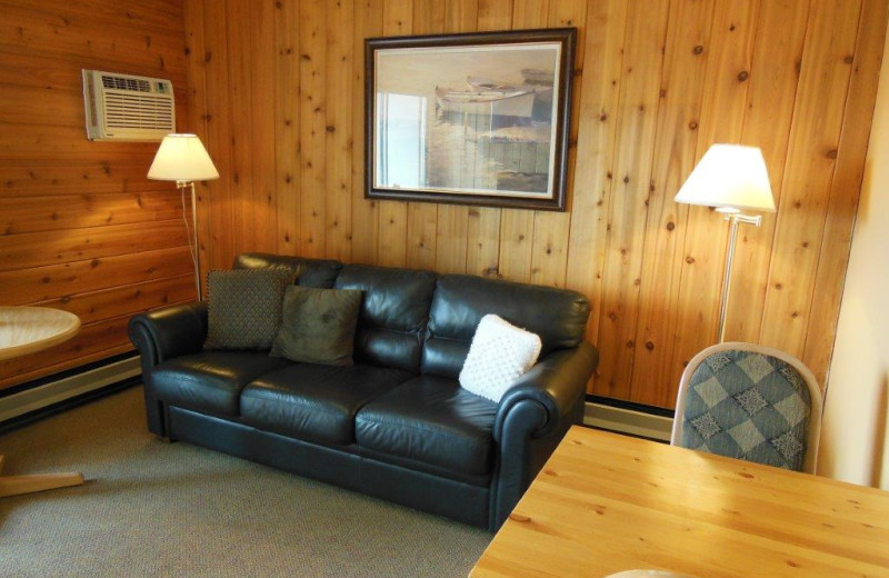 Guest room at Rocky Mountain Springs Lodge.