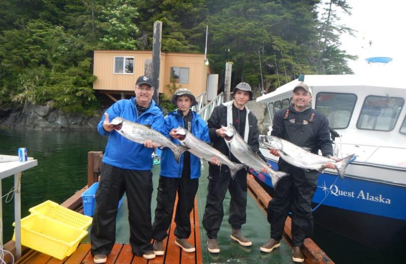 Fishing at Quest Alaska Lodges.