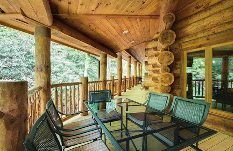 Rental deck at Stony Brook Cabins, LLC.