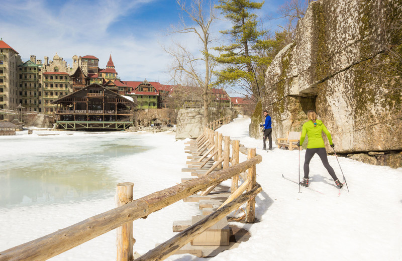 Cross country ski at Mohonk Mountain House.