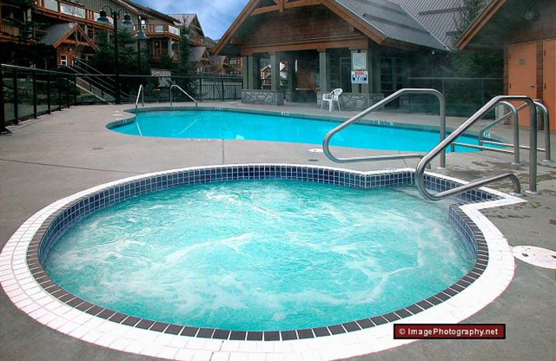 Outdoor pool at AllSeason Vacation Rentals.