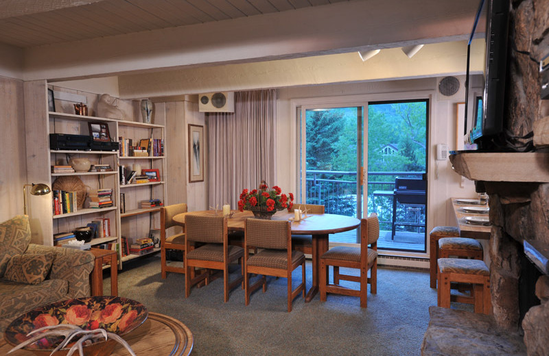 Rental dining room at Frias Properties of Aspen - Chateau Roaring Fork #14.