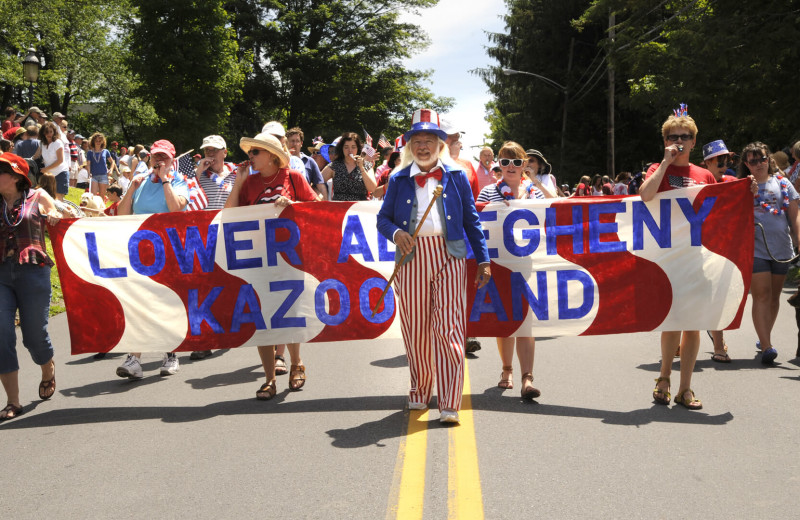 4th of July parade at Eagles Mere Inn.