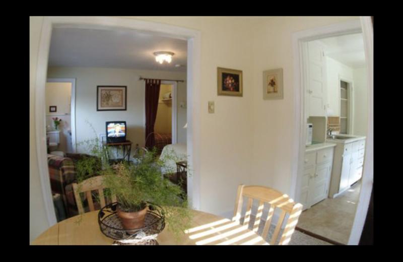 Studio guest room at Anam Cara Bed & Breakfast.