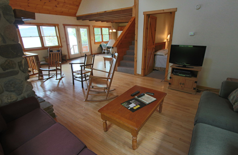 Guest living room at The Birches Resort.