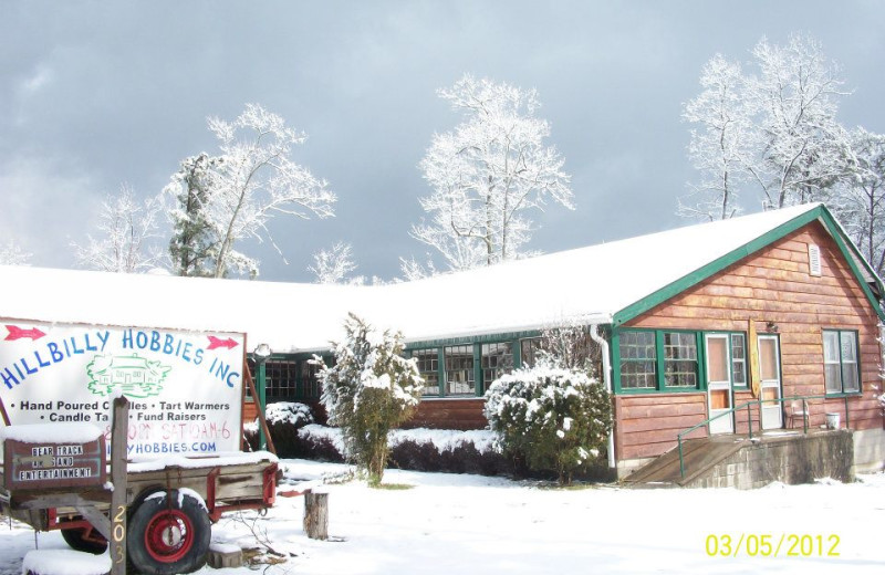 Winter time at Pinecrest Camp Lodge.