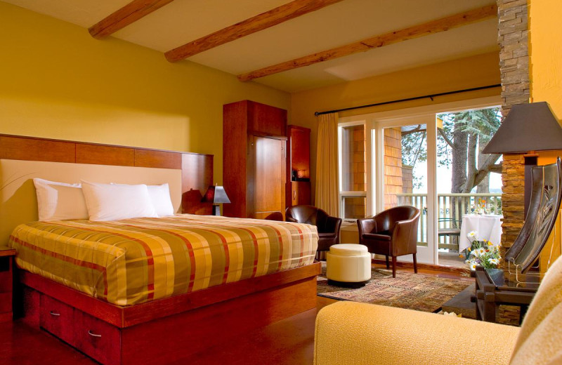 Guest room at Galiano Oceanfront Inn and Spa.