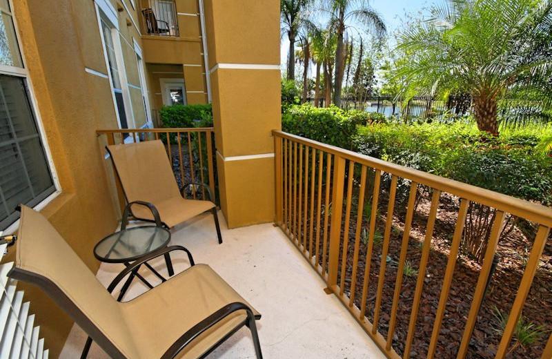 Vacation rental balcony view at Vista Cay Inn.