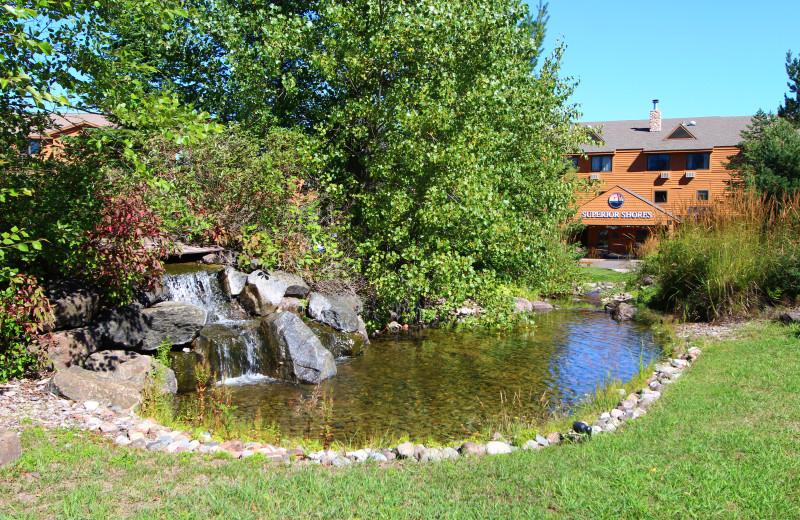 Pond view at Superior Shores Resort.