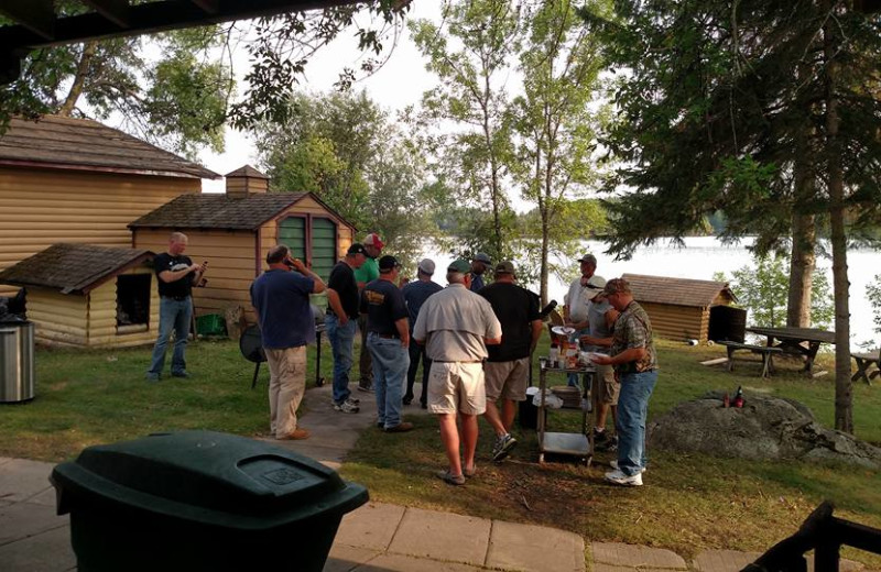 Group at Pipestone Point Resort.