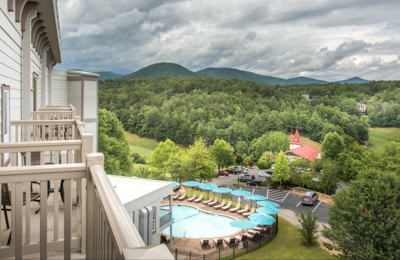 Balcony view at Valhalla Resort Hotel.
