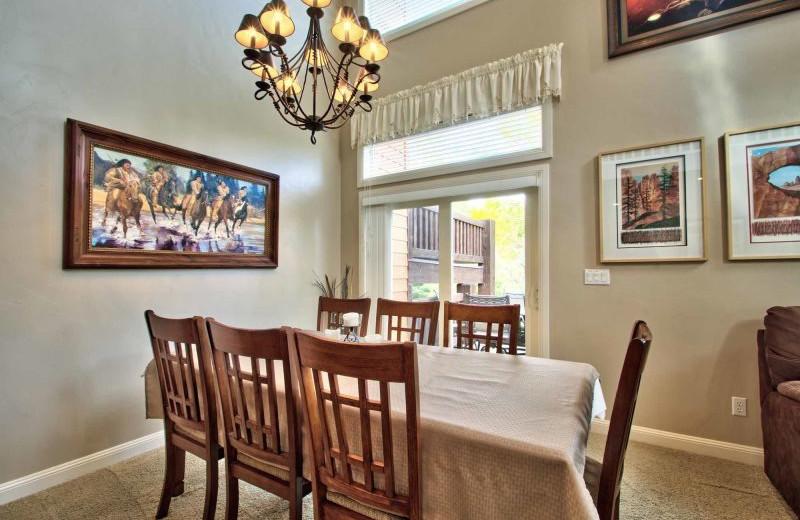 Rental dining room at Lakeside Resort Properties.