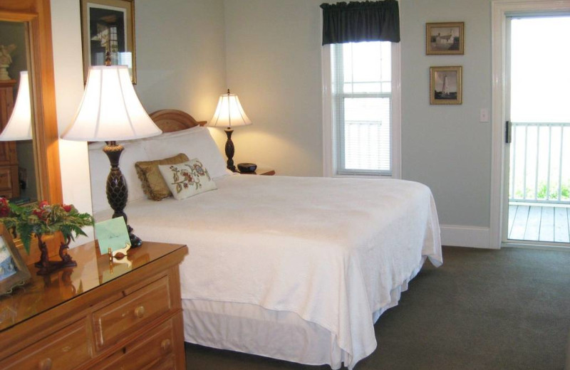 Guest bedroom at The Sunset Inn.