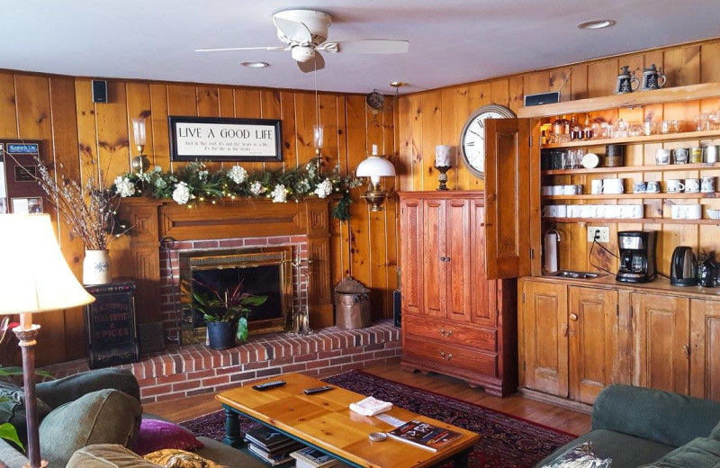 Interior view of The White House Inn.
