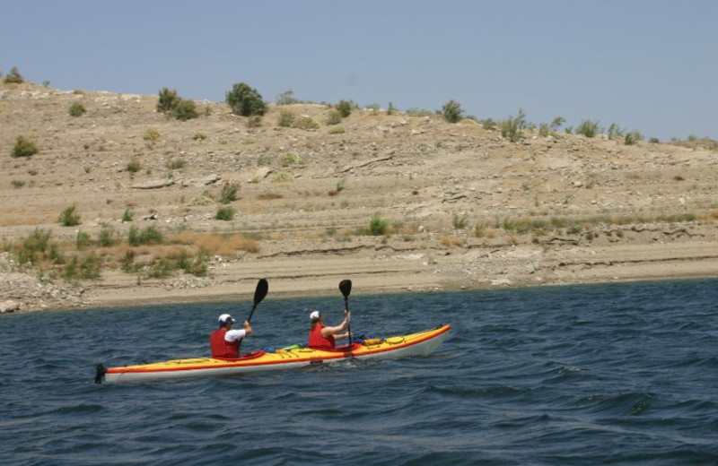 Kayaking at Callville Bay.