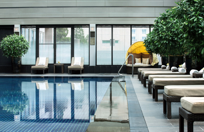 Indoor pool at The Palace Hotel.