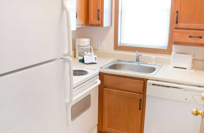 Guest kitchen at Indian Point.